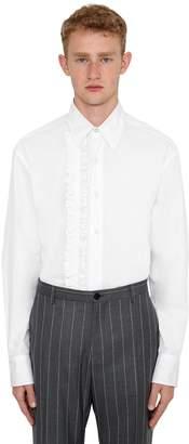 Versace Cotton Shirt W/ Ruffles