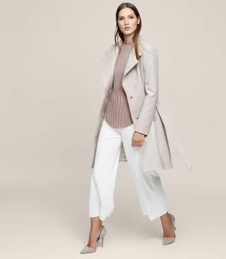 Reiss Hetty Belted Wrap-Front Coat