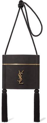 Saint Laurent Opyum Tasseled Leather Shoulder Bag - Black