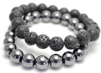 Tag Twenty Two Lava Rock and Hematite Positive Energy Bracelet Set
