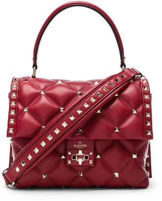 Valentino Candystud Top Handle Bag in Red | FWRD