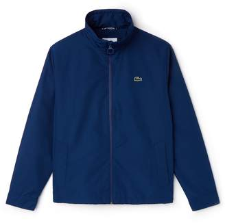 Lacoste Men's Concealed Hood Zippered Lightweight Taffeta Jacket