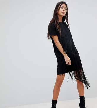 Asos Mini T-Shirt Dress With Fringe Detail