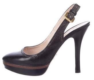 Prada Leather High Heels