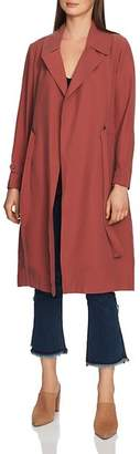 1 STATE 1.STATE Belted Soft-Twill Trench Coat