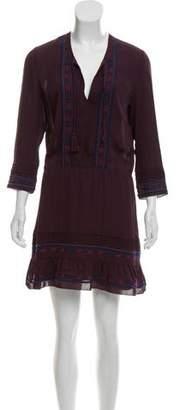 Veronica Beard Silk Embroidered Dress