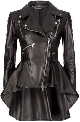 Leather Peplum Jacket