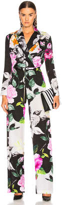 Off-White Off White Floral Coulisse Jumpsuit