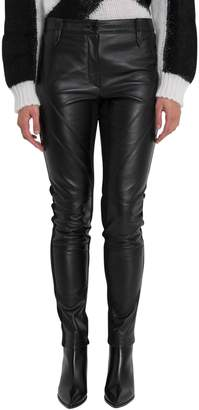 Alberta Ferretti Leather Skinny Pants
