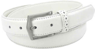 Stacy Adams Leather Belt with Pinhole Design-Big & Tall
