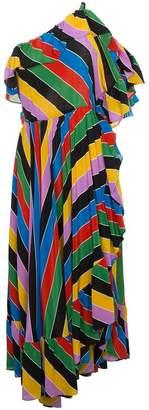 Philosophy di Lorenzo Serafini striped one-shoulder dress