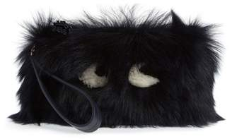 Anya Hindmarch Creeper Genuine Shearling Clutch