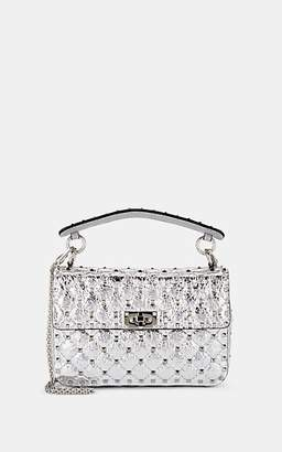 Valentino Women's Rockstud Spike Medium Leather Shoulder Bag - Silver