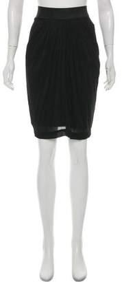 Donna Karan Draped Pencil Skirt