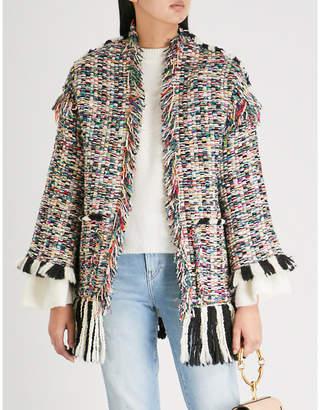 Missoni Multi-coloured hopsack wool-blend cardigan