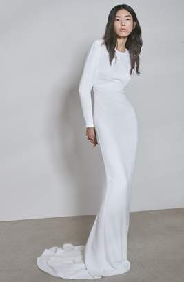 Stella McCartney F18 Ruby Long Sleeve Cutout Wedding Dress