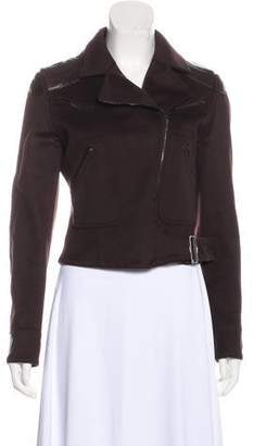 Christian Dior Leather-Trimmed Jacket