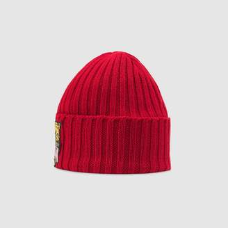 Gucci Children's knit hat with tiger patch