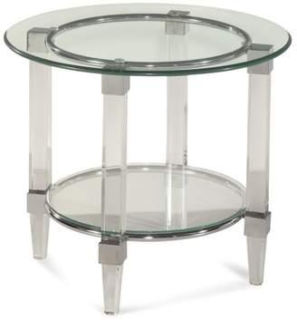 Bassett Mirror Cristal Round End Table