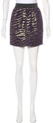 3.1 Phillip Lim Silk-Blend Metallic Mini Skirt