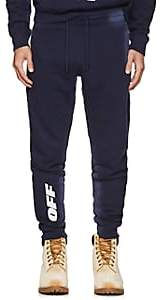 Off-White Men's Logo Cotton Fleece Jogger Pants - Navy