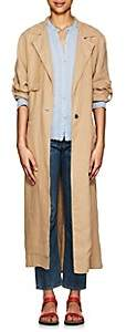 Raquel Allegra Women's Linen Trench Coat - Camel