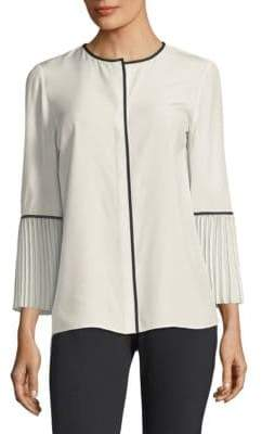 Lafayette 148 New York Nemy Pleated Blouse