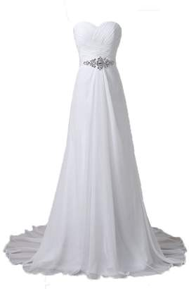 Lily Wedding Ladies Vintage Rustic Country Wedding Gown Bride Dress for Women 2017 Beach
