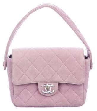 Chanel Quilted Mini Square Flap Bag silver Quilted Mini Square Flap Bag