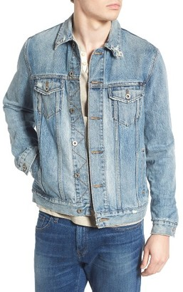 Men's Lucky Brand Lakewood Distressed Denim Jacket $99 thestylecure.com