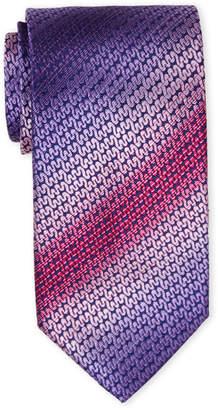 Missoni Purple & Pink Pattern Silk Tie