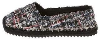 Karl Lagerfeld Embellished Tweed Espadrilles
