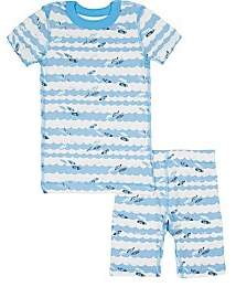 Skylar Luna Infants' Surfboard-Print Organic Cotton Pajama Set-Blue