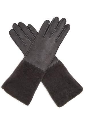 Bottega Veneta Suede and shearling gloves
