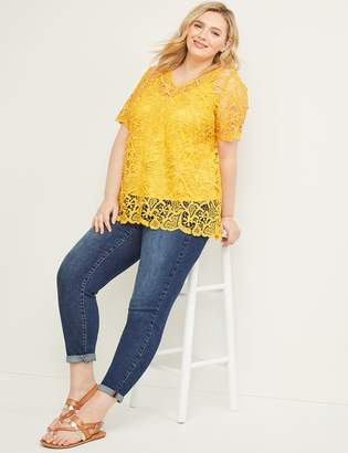 Lane Bryant Embroidered Lace Top