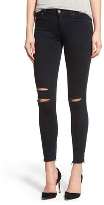 Women's J Brand Destroyed Crop Skinny Jeans $218 thestylecure.com