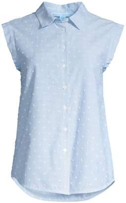 Draper James Dobby Swiss Dot Cotton Shirt