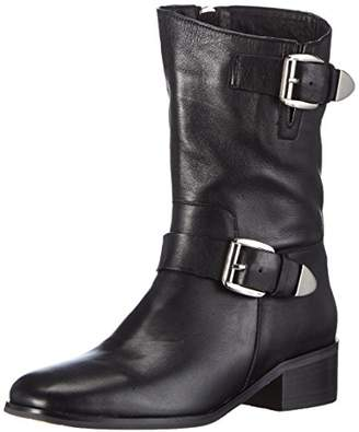 Giudecca Women's JY1510-1 Cold Lined Biker Boots Half Shaft Boots and Bootees Black Size: 6