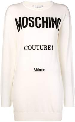 Moschino intarsia-knit mini dress