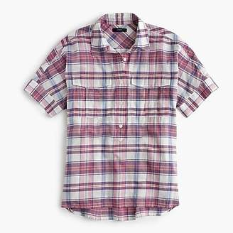 J.Crew Short-sleeve popover in vintage plaid