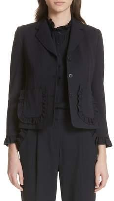 Rebecca Taylor Ruffle Trim Jacket