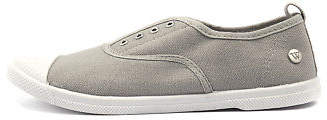 Walnut Melbourne New Euro Plimsole Grey Womens Shoes Comfort Sneakers Casual