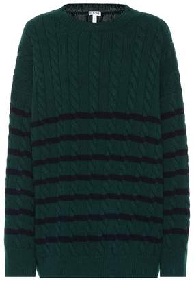Loewe Striped cable-knit wool sweater