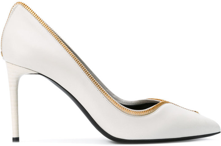 Tom Ford zip detail pointed pumps