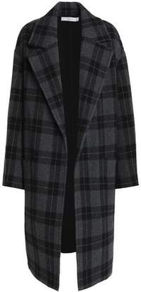 Vince Checked Wool-Blend Coat