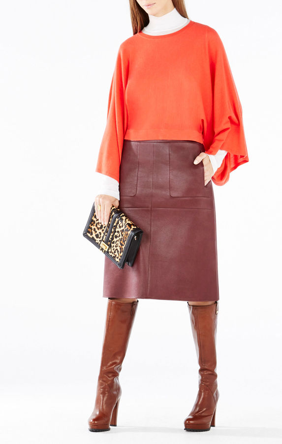 BCBGMAXAZRIALyndsey Kimono-Sleeve Cropped Sweater