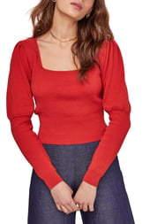 ASTR the Label Bijou Square Neck Sweater