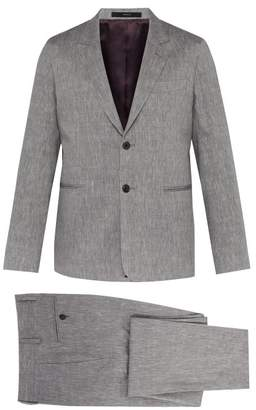Paul Smith Soho Tailored Fit Wool And Linen Blend Suit - Mens - Grey