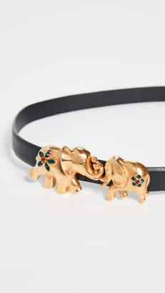 Oscar de la Renta Elephant Belt Buckle