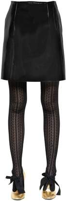 Philosophy di Lorenzo Serafini Vinyl Mini Skirt
